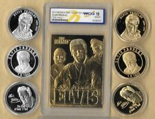 6~ ELVIS PRESLEY 1935 - 1977 GOLD & SILVER COLLECTOR COINS & GOLD CARD