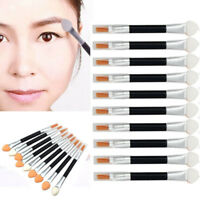10/12 Pcs Makeup Double-end Eye Shadow Eyeliner Brush Sponge Applicator Tool