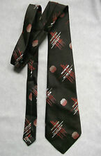 A FAVOURITE TIE EXTRA WIDE 1960'S 1970'S BROWN DARK ORANGE RETRO ABSTRACT