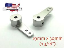"1PC ⌀3mm 30mm 1 3/16"" CNC Aluminum Steering Arm for RC Model Cars Buggy Crawlers"