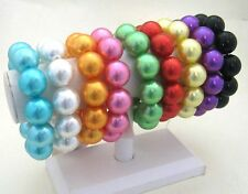 ALL-AROUND STRETCH COLOR FAUX PEARL STRETCH to Plus Size Bangle BRACELET Cuff
