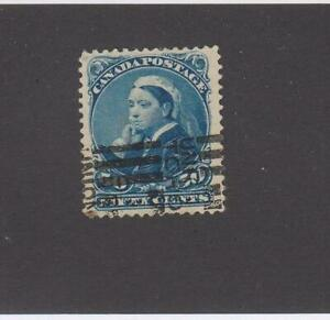 CANADA  (MK5537) # 47  VF-USED  50cts  1893 QUEEN VICTORIA / DEEP BLUE CV $90