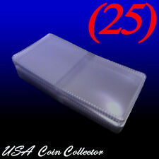 (25) 2x2 Double Pocket Vinyl Coin Flips for Storage - PVC Free Plastic Holders