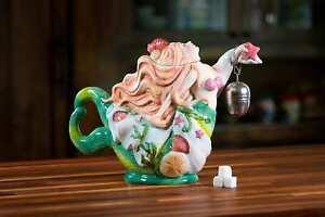 Blue Sky Clayworks E1 Kitchen Mermaid 12.5in Ceramic Teapot 19122 DEFECT