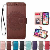 Womens Flip Magnetic Wallet Case Floral Print Cover For iPhone 5S 6S 7 8 Plus