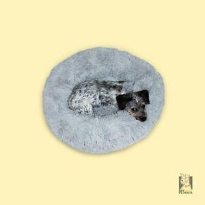 Donut Soft Plush Calming Dog Bed - White, Pink, Yellow, Grey, Tie Dye. Cat / Dog