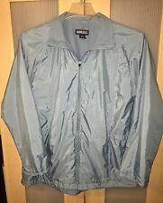 Lands End Women's Fleece Lined Light Jacket Coat Sage Sz 10/12 Medium Spring