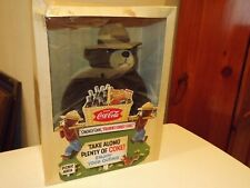 1997 Coca Cola Plush Smokey Bear Collector's Club 16 in. Euc