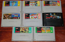 SNES Games Lot Super Mario World, Donkey Kong Country, All Stars Nintendo