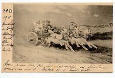 RUSSIE Théme attelage et Troika carte de troika à 3 chevaux blancs
