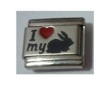 Italian Charms L56  I ( Red Heart) Love My Rabbit