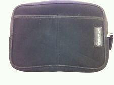 REDFLY BLACK NOTEPAD SOFT ZIPPERED CLOSURE CASE BLACK 9.5 X 6.75 INCHES