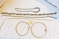 *VINTAGE COSTUME DIAMANTE NECKLACES CHOKERS & SHORTER STYLE EXQUISITE COLLECTION