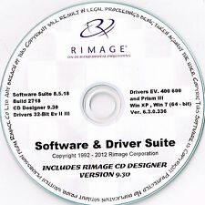 Rimage Everest & PRISMA suite di software e driver e Rimage CD LABELER