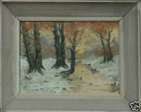 L FORSI 19th CENTURY AMERICAN IMPRESSIONIST LUMINIST  WOODLAND WITH DEER OIL