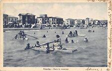 6063) VISERBA (RIMINI) GARA IN MOSCONE. ANIMATA. VG IL 12/7/1930.