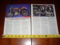 HARLEY DAVIDSON XR-750 STREET TRACKER STARS & STRIPES - ORIGINAL 2009 ARTICLE