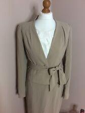 LK Bennett Beige Wrap Front Suit Jacket With Bow Tie - Size 10