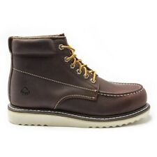 New Mens Wolverine Brown Apprentice Leather Boots Lace Up