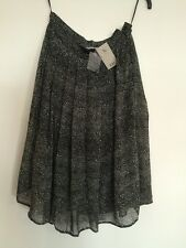 TU At Sainsburys Black & White Spotty Skirt 10 Brand New With Tags RRP £22