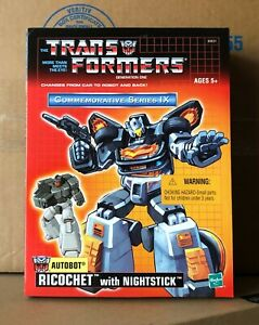 Ricochet with Nightstick MISB Commemorative Series IX 9 Transformers Stepper