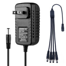 CCTV Security Camera Power Supply Adapter - w/ 4-way splitter 12VDC 2A (2000mA)
