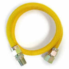 """1/2""""FIP X 1/2"""" MIP X 36"""" Epoxy coated Stainless Steel Gas Connector/Line/Flex"""