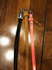 Lot of 3 Girls Belts Black Brown Pink 28� Size 7 Belt