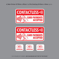 5 x Contactless Card Payments Accepted Stickers Sign Taxi Mini Cab - SKU3146