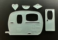 "ACRYLIC CAMPERVAN CRAFT//SEWING TEMPLATE APPLIQUE QUILTING CARD MAKING 4/""//10CM"