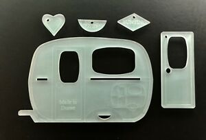 Acrylic caravan template - sewing, paper craft, applique