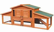 "Merax 70"" Wooden Rabbit Hutch Chicken Coop House Cage Small Animals w/ 2 ramp"