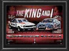 "Peter Brock And Craig Lowndes ""The King and I"" Lithograph-Pro Sports Memorabilia"