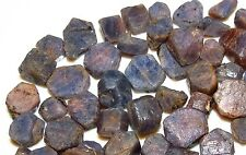 50ct HEXAGONAL PURPLE - PINK SAPPHIRE rough EARTH MINED CRYSTAL LOTS