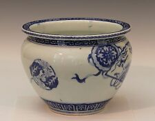 Antique Arita Imari Studio Japanese Porcelain Blue & White Planter Jardiniere