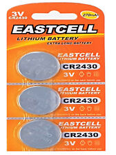 3 x CR2430 3V Lithium Batterie 270 mAh ( 1 Blistercard a 3 Batterien  EASTCELL