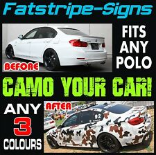 VW POLO CAMO GRAPHICS STICKERS STRIPES DECALS VOLKSWAGEN V DUB GTI 1.4 1.6 GT
