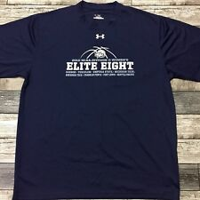Under Armour Heatgear T Shirt Men's Size L Ncaa Elite 8 2010 Navy Blue