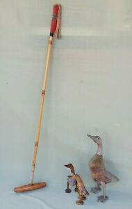 """Vintage J.Salter & Sons 50"""" Polo Mallet with Bamboo Shaft & 9"""" Head #2"""