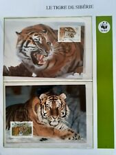WWF Maximaphilie Lot 4 cartes-maximum TIGRE DE SIBERIE Russie Rossija