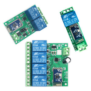 1/2/4CH DC 5V/12V Bluetooth Relay Module Smart Home Mobile APP Control Switch