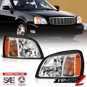 [FACTORY STYLE] 2000-2005 Cadillac Deville Sedan Limo Headlights NEW PAIR LH+RH