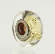 NEW Chamilia O-92 Bead Charm - Sterling Silver Sandstone Murano Glass