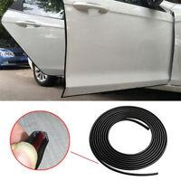Black 5 Meters Moulding Trim Strip Car Door Edge Scratch Guard Protector Cover