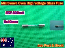 Microwave Oven Spare Parts High Voltage Glass Fuse 5KV 800mA 6x40mm (A207) New