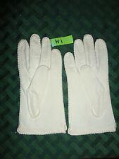 """Vintage Women's Gloves Medium 6 Off white cream 9 7-1/2"""" costume #W1"""