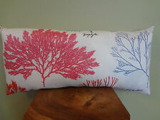 Decorative Pillow Cover Sealife Marine Corals Pattern White Pink Red Blue Purple