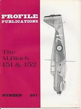 PROFILE PUBLICATIONS #201 M BLOCH 151 & 152 WWII MILITARY AIRPLANE PLANE