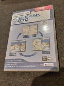 Scottish Lowlands and BordersAnquet Maps CD Rom Ordnance Survey Right To Roam