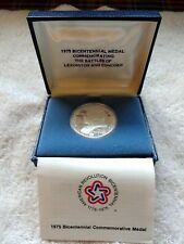 New Listing1975 Commemorative Silver Medal Paul Revere Battles Lexington & Concord